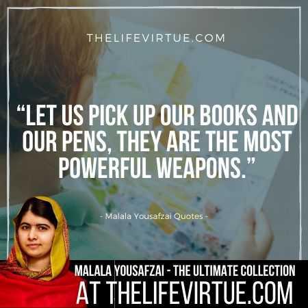 Malala Yousafzai Sayings on Education and Weapons