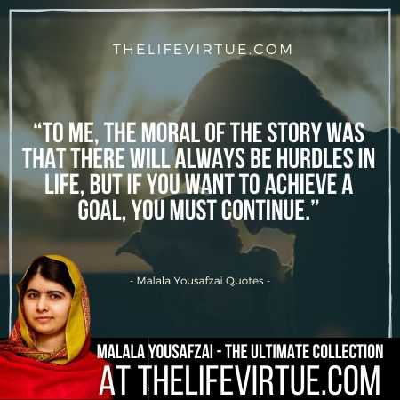 Malala Yousafzai Sayings on Goals
