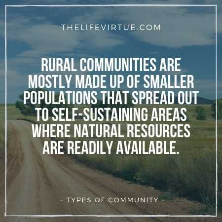 Rural Communities - Natural Community