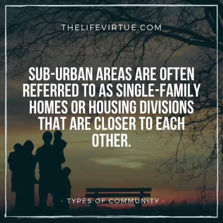 Sub-Urban Communities are another kind of communities
