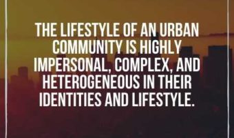 Urban Community is complex - Types of Community