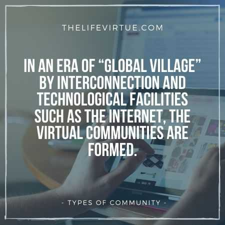 Virtual Communities - Types of Community