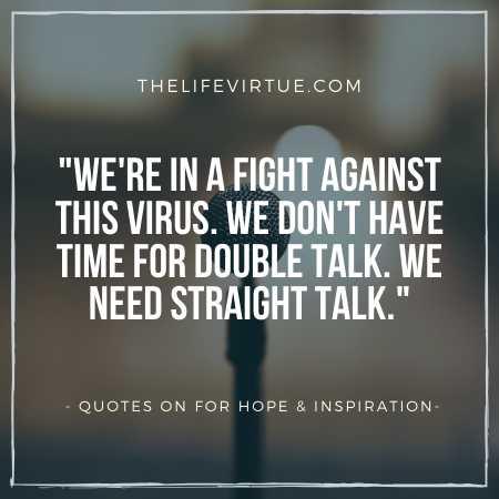 Fight Against Coronavirus Quotes