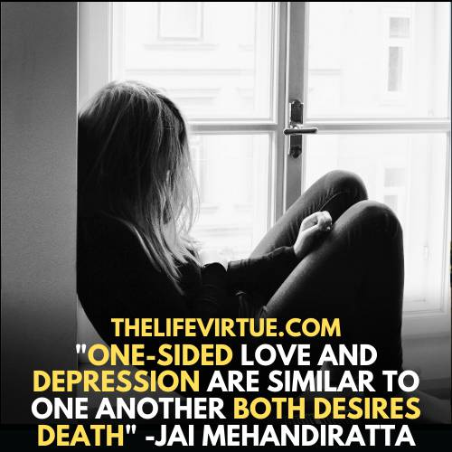 depression due to one-sided love - one-sided love is similar to depression
