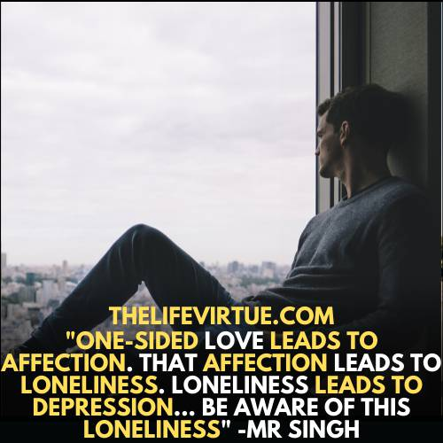 depression due to one-sided love