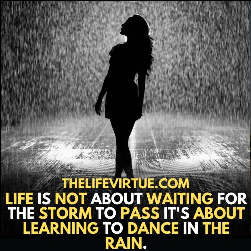 how to feel alive? - learning to dance in the rain