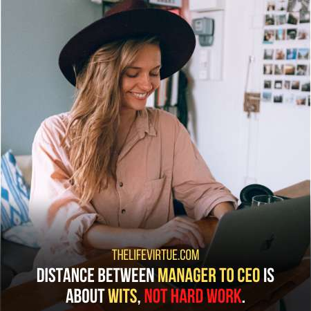 Distance between manager to ceo
