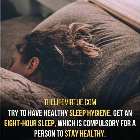 Healthy sleep habit helps with the fear of sleep