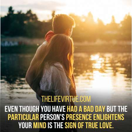 Particular person's precense enlighten your mind