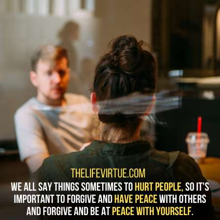 Advice others on how to let go of grudges
