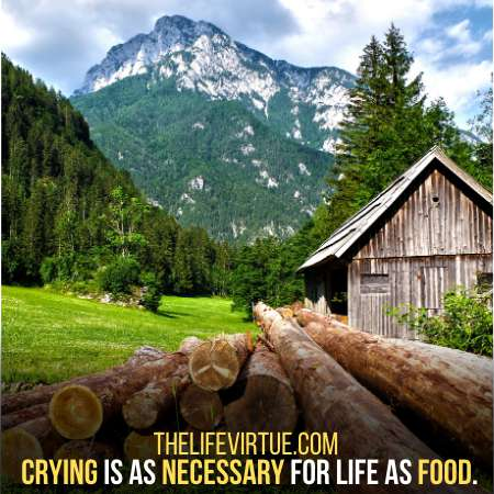 Crying is as necessary for life as food.