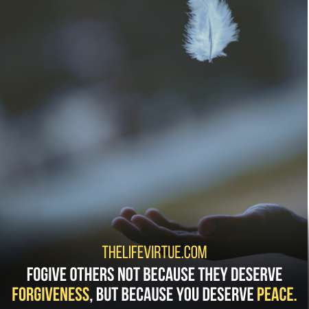 Forgiving is important in how to let of grudges