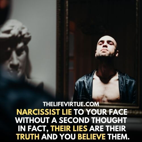 A Narcissist looking at the mirror - learn how to deal with a narcissist.