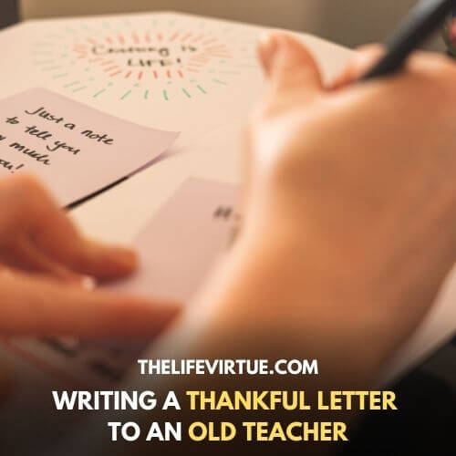 writing a letter to an old teacher
