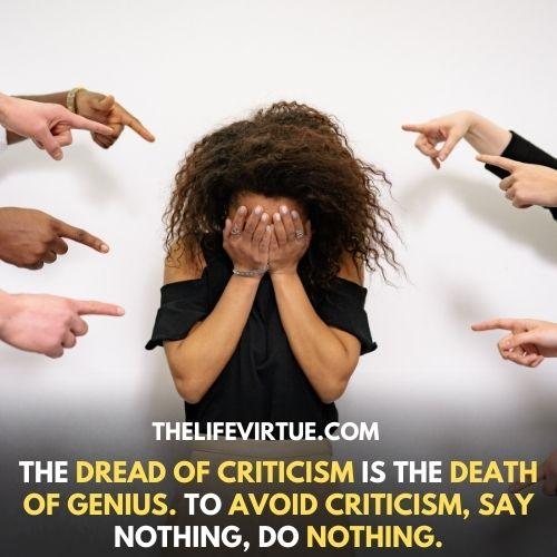 Sometime it's ok to being criticized described image