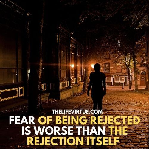 A person is walking on the road having the fear of rejection in his mind