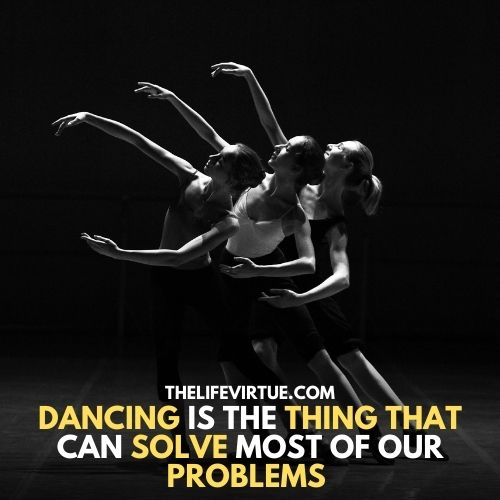some girls are in dancing positions describe you can feel relax by dancing and it also include in the funny things to do in a talent show