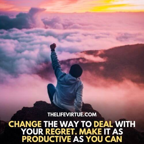 how to deal with regret after breakup- change is the key of inner satisfaction
