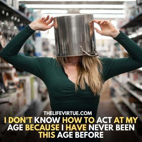 A girl with a crockery on her head showing funny things to do in a Walmart
