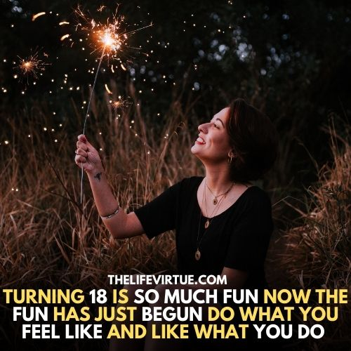 A girl is playing with firework which explaining the Funny Things You Can Do When You Turn 18