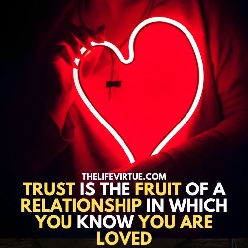a heart picture describe about a relationship that a relationship is nothing without trust and also explain how to trust your boyfriend